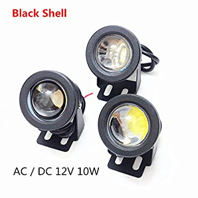 Sliver Shell, White : 10W Underwater Pond light IP67 Waterproof White/Warm white/RGB LED Fountain Floodlight AC/DC 12V Swimming Pool Spot light
