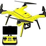 MightySkins Protective Vinyl Skin Decal for 3DR Solo Drone Quadcopter wrap cover sticker skins Solid Yellow