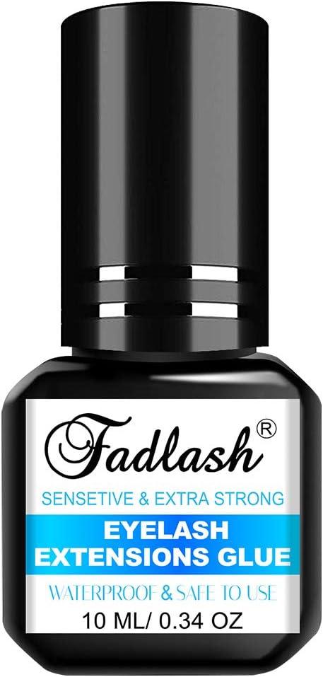 Pegamento Pestañas Postizas 10ml Pegamento de Extensión de Pestañas 3-4 Second Eyelash Extension Glue Adhesivo Pestañas Postizas
