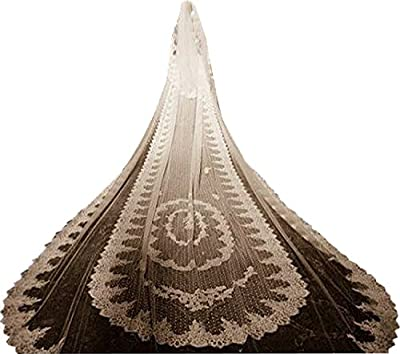 Wishopping Women's 5 Meters 2 Tiers Lace Wedding Bridal Veil With Comb WS05
