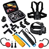 T.Face GoPro Action Camera Accessories Set Monopod Mount Kits for Go Pro Hero 6 5 4 Xiaomi Yi 4K SJCAM SJ5000 SJ7 Eken H9 Cam (XTK107)