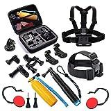 T.Face GoPro Action Camera Accessories Set Monopod Mount Kits for Go Pro Hero 6 5 4 Xiaomi Yi 4K SJCAM SJ5000 SJ7 Eken H9 Cam (XTK107)