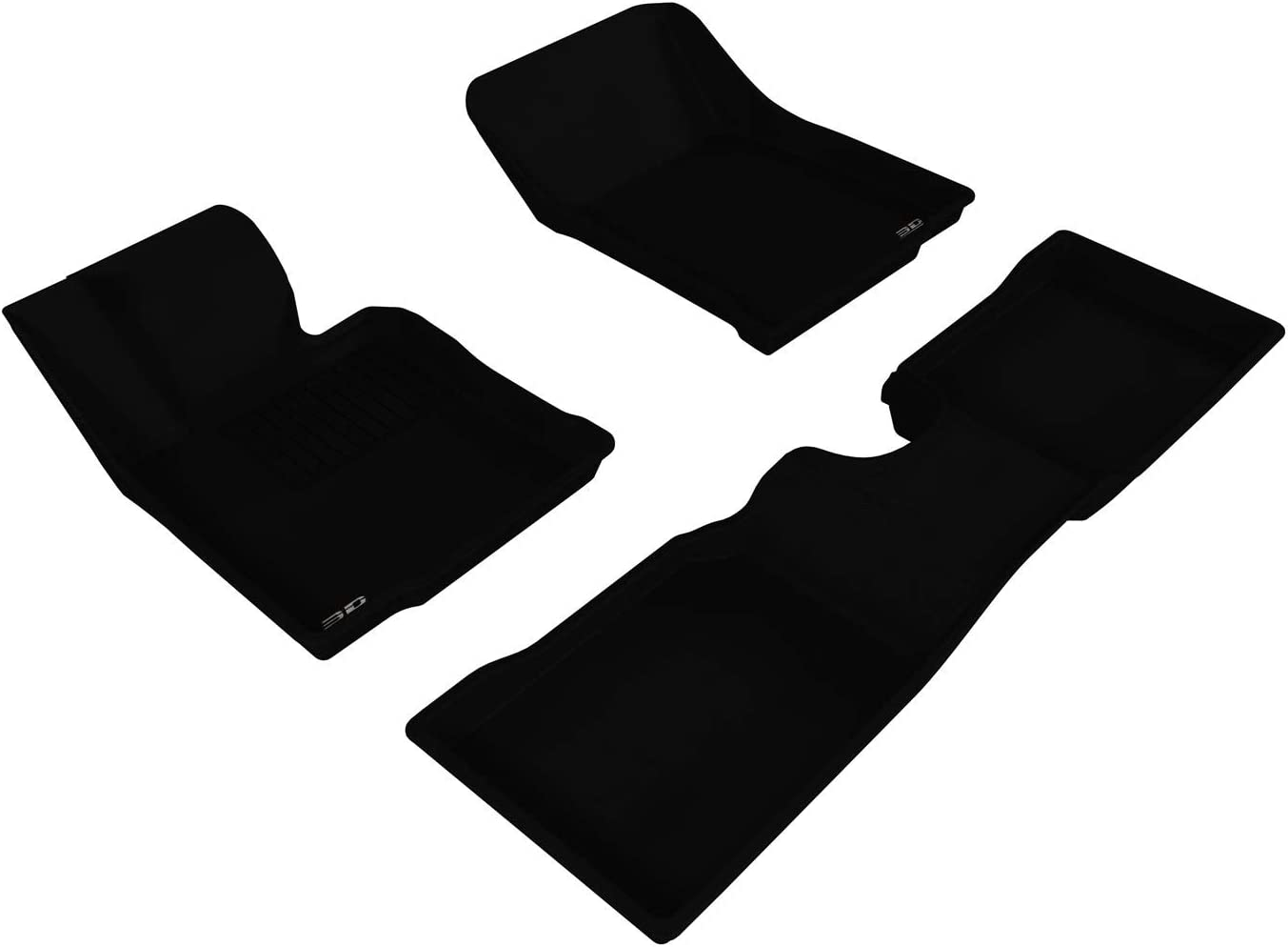 Kagu Rubber 3D MAXpider Complete Set Custom Fit All-Weather Floor Mat for Select Chevrolet Silverado Models Black