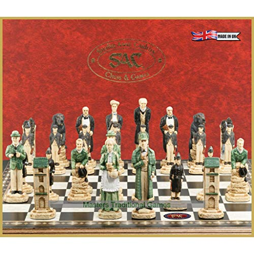 (Sherlock Holmes Chess Set - Hand-Painted in England)