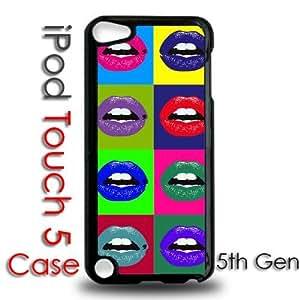 IPod 5 Touch Black Plastic Case - Pop Color Art Lips
