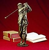 Navika The Legend Vintage Golfer Bronze Sculpture