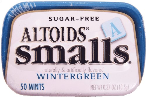 Altoids Mints - Smalls Wintergreen Sugar Free .37 Oz Tins...