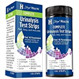 Urine Test Strips - Stript Health 10 Parameter Complete Urinalysis Testing 100ct, Urinary Tract Infection Strips (UTI…