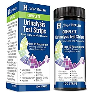 Gut Health Shop 51z4wBoJstL._SS300_ Urine Test Strips - Stript Health 10 Parameter Complete Urinalysis Testing 100ct, Urinary Tract Infection Strips (UTI…