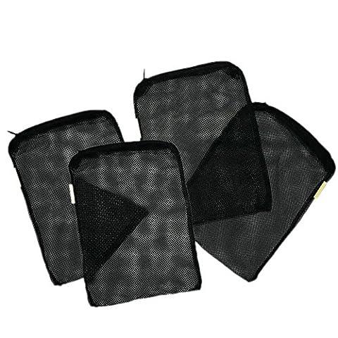Filter Bags,Govine Aquarium Universal Media Filter Bag for Pelletized Carbon, Bio Balls, Ceramic Rings, Ammonia Remover (Black, 8