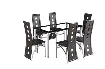 Crazy DYMIO Ensemble Table à Salle SaleVerre Carré de de O08wPnk