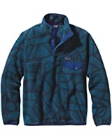 Patagonia Men's Lightweight Synchilla Snap-T Fleece Pullover, Shale/Navy Blue, M