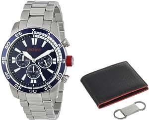 red line Men's RL-60007-SET Cruiser Chronograph Dark Blue Dial Stainless Steel Watch Set