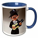 3dRose (mug_139193_6) Spain, Madrid, souvenir of Spanish musician - EU27 WBI0232 - Walter Bibikow - Two Tone Blue Mug, 11oz