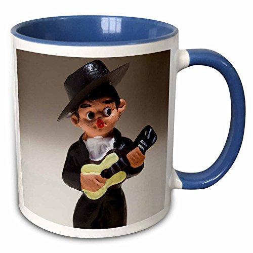 3dRose (mug_139193_6) Spain, Madrid, souvenir of Spanish musician - EU27 WBI0232 - Walter Bibikow - Two Tone Blue Mug, 11oz by 3dRose