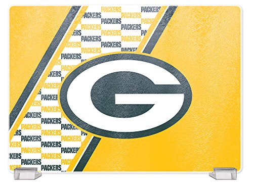 NFL Green Bay Packers Tempered Glass Cutting Board with Display Stand