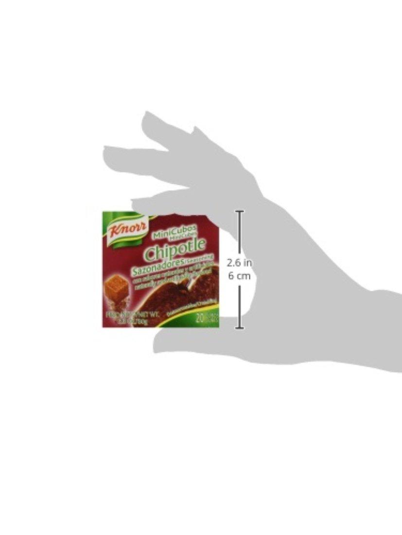 amazon com knorr mini cubes chipotle 20 count box bouillons