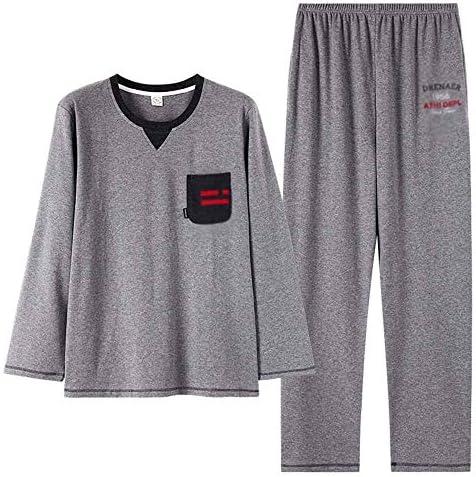 メンズパジャマ スタイリッシュでシンプルなスポーツウェアラウンドネック長袖の男性は、パジャマメンズパジャマセットを着ることができます 部屋の備品、パジャマ、スポーツ用品、日用品に使用できます。 (Color : Photo color, Size : XL)