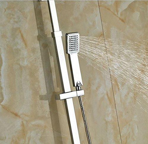 GOWE Bath Rainfall Shower Set Faucet Thermostatic Shower Chrome Polish Exposed 5