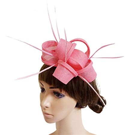 c3a4502fc245d Ladies Day Hair Clip Hat Veil Womens Vintage Fascinators With Clip and  Headband Wedding Cocktail Tea