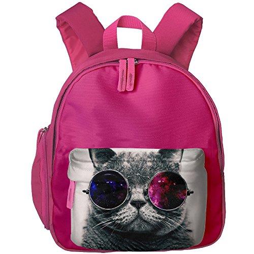 Girls Boys Galaxy Cat Sunglasses Canvas School Backpack Student Bookbag Kids - For Faces Fat Sunglasses Men