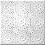 R36-White 20 x 20 Tin Looking Ceiling Tile