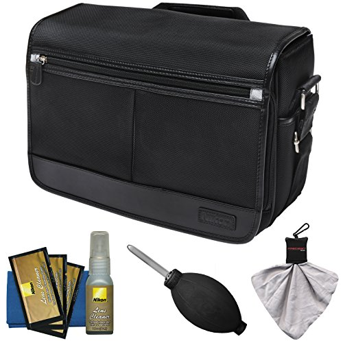 Nikon Camera Backpacks - Nikon DSLR Camera/Tablet Messenger Shoulder Bag with Nikon Cleaning Kit