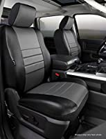 Fia SL69-27 GRAY Custom Fit Front Seat Cover Split Seat 40//20//40 Black w//Gray Center Panel Leatherette