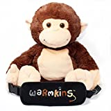 "Hugo Warmkins Original 18"" Weighted Sensory Plush Monkey-Feels Like a Warm Hug,Therapeutic,Calming,Comforting.Hot/Cold,Microwavable,Doubles as Backpack and Storage.Removable Straps,Reversible Paws."