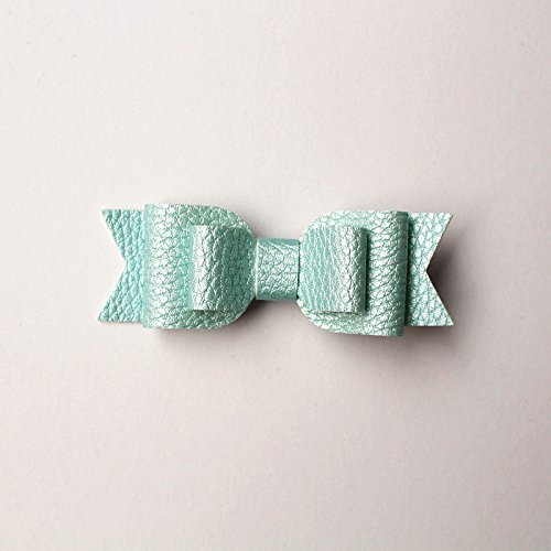 Teal Girls Birthday Party Favors 4 Pack Leather Bows Adorable Boutique Packaging Thank you for coming to my party