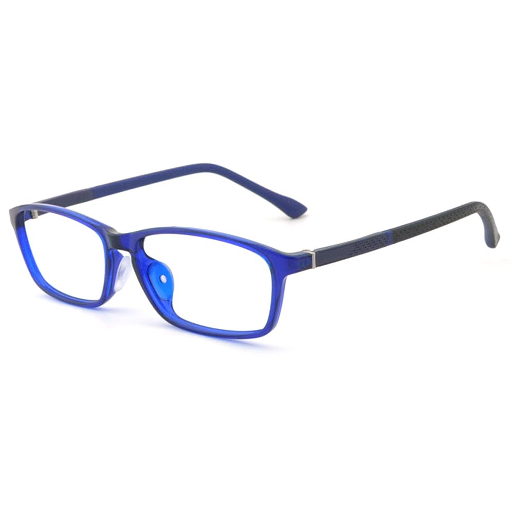 Fantia Safe Silicone Children Glasses Kids Eyeglass Frame Age 6-12 (Blue)