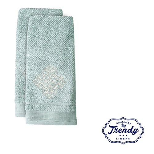 Modena Embroidered Hand Towels - Bathroom Shower Collection