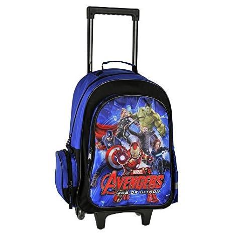 Avengers Bolsa grande a ruedas Trolley bolsa mochila mochila escuela a Super Heroes Marvel: Amazon.es: Oficina y papelería