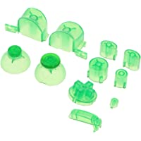 MagiDeal Replacement ABXYZ Buttons + Thumbsticks Chrome D-pad Mod Set for Nintendo NGC Green