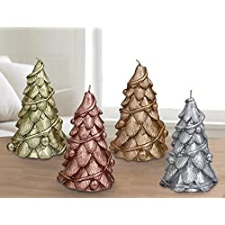 "Christmas Trees Candles 4 Pack 6"" , Table Centerpiece Window Decorations Ornaments, Gifts for Women"