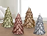 Cheap Christmas Trees Candles 4 Pack 6″ , Table Centerpiece Window Decorations Ornaments, Gifts for Women