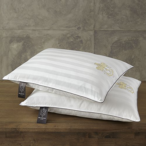 2 Pack Sleep Pillows by Behrens England, 1000 Thread Count L