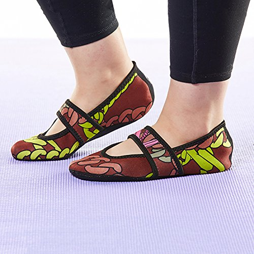 House Flats Socks Flexible Shoes Dance Slippers Chains Slippers Maroon Medium Black Nufoot Socks Exercise amp; Best Slipper Shoes Lou Shoes Betsy Women's amp; Shoes Foldable Travel Yoga Indoor g08vRwq