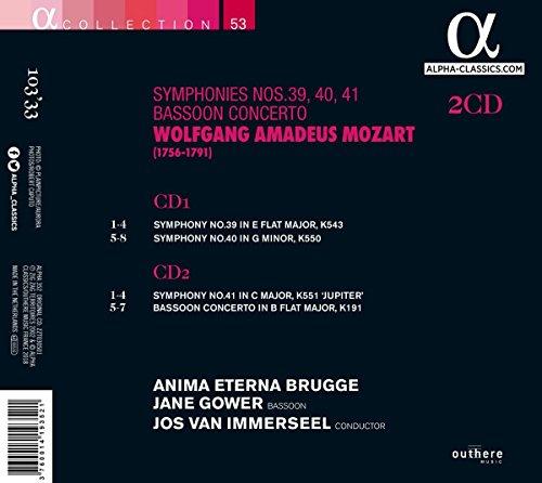 Mozart: Symphonies Nos. 39, 40, 41 & Bassoon Concerto