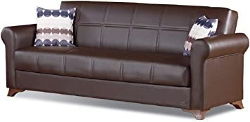 Single Folding Sofa Bed Modern Fabric Sleep Function Holder Pillow Convertible