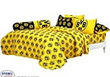 Borussia Dortmund BVB Fc Football Club Soccer Team Official Licensed Bedding Set, Fitted Bed Sheet, Pillow Case, Bolster Case, Comforter DM001 Set B+1 (Queen 60''x78'')