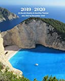 2019 - 2020 | 18 Month Weekly & Monthly Planner July 2019 to December 2020: Greece Island Ocean Beach Vol 2 Monthly Calendar with U.S./UK/ ... Holidays- Calendar in Review/Notes 8 x 10 in.