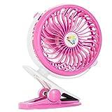 Fans Portable Clip On Fan Desk, Car, Bed, Baby Stroller, Table, USB Fan Rechargeable Battery