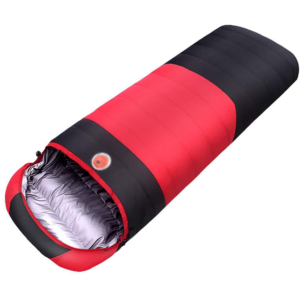 YYSD Daunenschlafsack, Camping Outdoor Reise warmen Schlafsack, Portable Splicing wasserdicht und feuchtigkeitsdichten Single Schlafsack