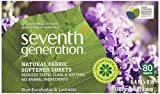 Seventh Generation Fabric Softener Sheets, Blue Eucalyptus & Lavender, 80 ct