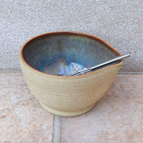 - Drizzle Bowl Egg Whisking Batter Mixing Pouring Wheelthrown Stoneware Handmade pottery hand thrown ceramic