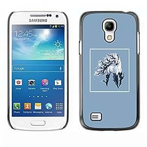 Caucho caso de Shell duro de la cubierta de accesorios de protección BY RAYDREAMMM - Samsung Galaxy S4 Mini i9190 - Unicornio
