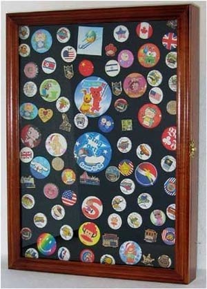Collector Pin and Medal Display Case Holder Cabinet Shadow box ...