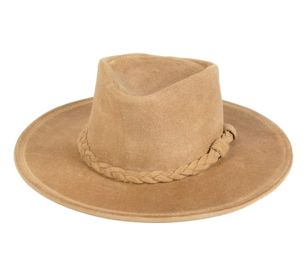 Minnetonka Men's Leather Outback Hat Tan Large by Minnetonka
