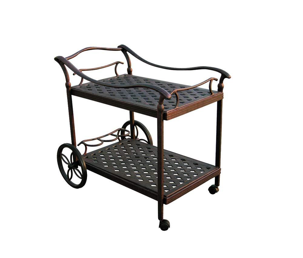 Amazon.com : Outdoor serving cart patio tea cast aluminum furniture Desert  Bronze : Garden & Outdoor - Amazon.com : Outdoor Serving Cart Patio Tea Cast Aluminum Furniture